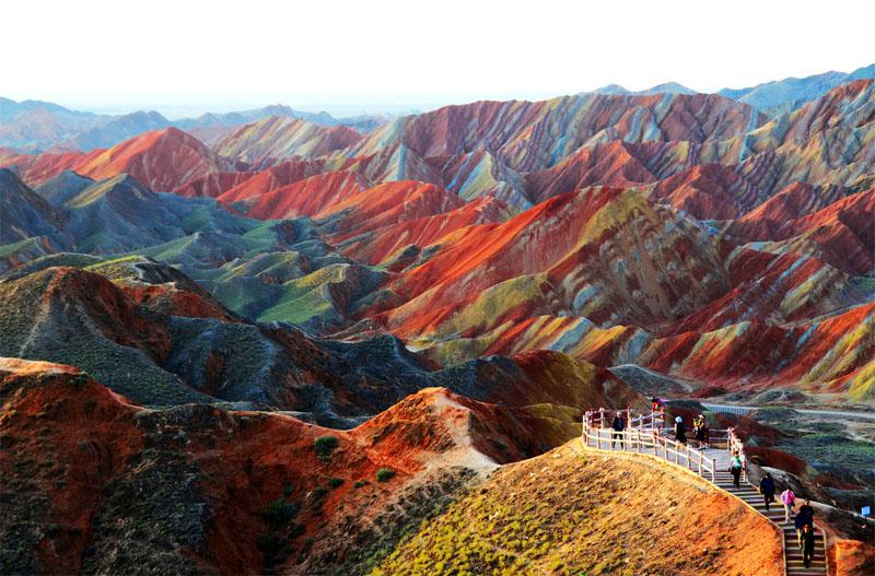 Zhangye-Danxia---Sud-Ouest-de-la-Chine