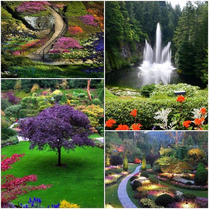 À Brentwood Bay au Canada, le jardin Butchart.