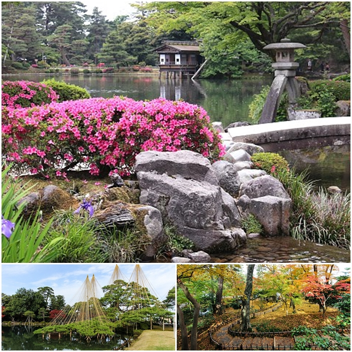 A Kanazawa au Japon, le jardin Kenrokuen.