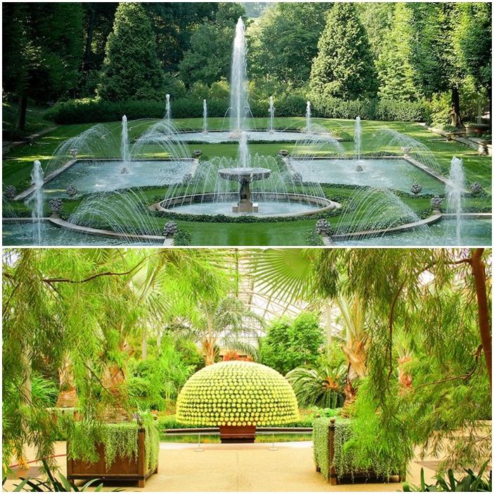 Les jardins de Longwood à Philadelphie aux Etats-Unis.
