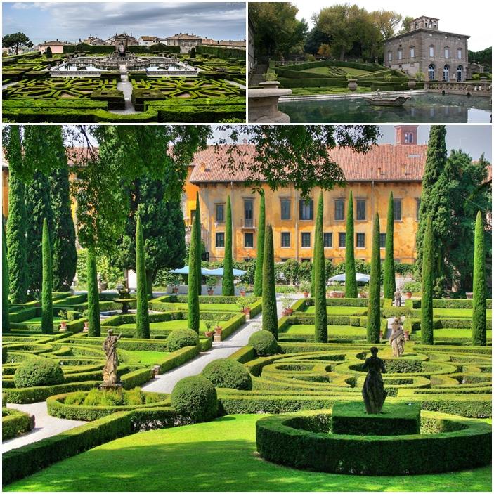 La Villa Lante à Bagnaia, Italie.